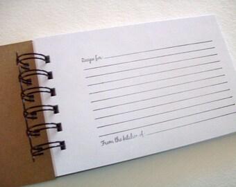 Recipe Book - DIY - Hand Stamped - Spiral Bound