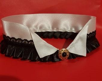 French maid inspired choker/collar