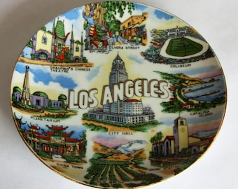 Vintage City Of Los Angeles Collectible Souvenir Plate