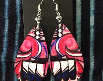 Pink Waterbird Spirit Earrings