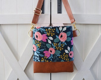 Beautiful Blue Rosa cross-body (Rifle Paper Co.)