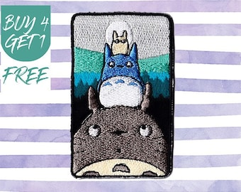 Anime Patches Totoro Patches Iron On Patch Embroidered Patch Sew On Patch Patches For Denim Jackets Cartoon Patches