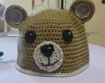 Bear beanie hat.