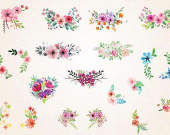 Floral Wedding Ornament Clipart / Wedding Floral Clipart / Flowers Clipart / Floral Ornament Clipart/SVG file,png 300,jpg