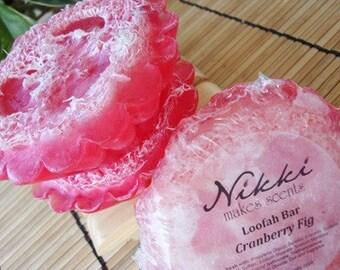 CRANBERRY FIG - Loofah Soap Bar