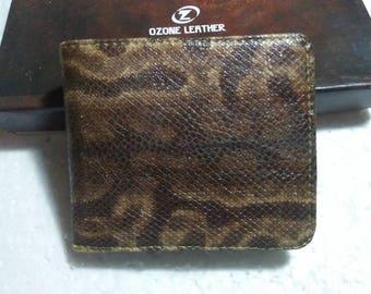 Handmade Genuine Snake Skin Wallet. Men's Slim Bifold Wallet. NATURAL SNAKESKIN BIFOLD Wallet. Free Shipping