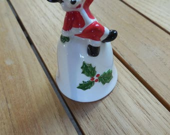 Vintage Japan Walt Disney Productions Mickey Mouse Christmas Bell