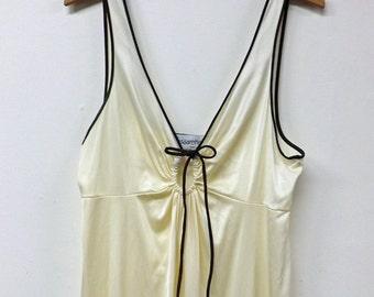 Long 1970's Vassarette Nightgown Tricot Size 38 Large