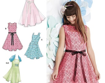 Sewing Pattern Dress for Tween Girls, Girls' Half Size Dress Pattern, Special Occasion Dress Pattern, Simplicity Sewing Pattern 1213
