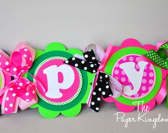 Watermelon Birthday Banner, Watermelon Birthday Party, XL Happy Birthday Banner
