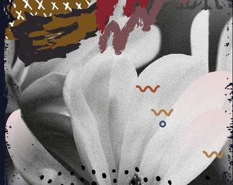 Fête des mères mothers gift Poster Print flower