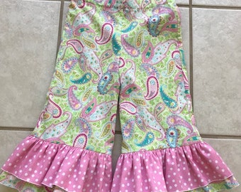 Matching Ruffle Capris for Girls