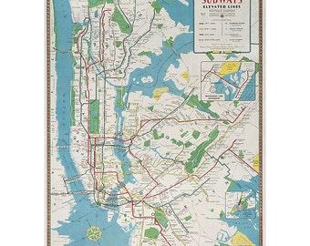 "NEW YORK CITY Subway Map Dress - Custom Hand-Folded Map Dress - 18"" x 24"" - Choose your Style! - Nursery Wall Decor Art"
