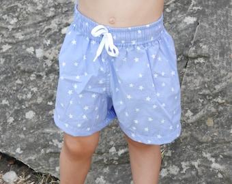 Bañador Niño Bermudas 2 a 7 años patrón PDF ideal piscina y verano: patrón bañador niño, patrón pdf bañador, bermudas niño, patrones costura