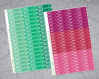 Quiz Stickers for Passion Planner | Erin Condren Life Planner | Happy Planner Classic | Plum Paper Planner | Emily Ley Simplified Planner