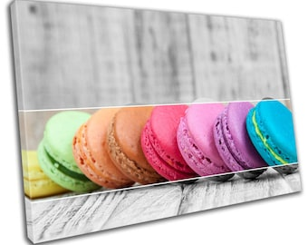 Macaroons Food Kitchen Canvas Print Home Decor- Wall Art - Modern Prints - Ready To Hang