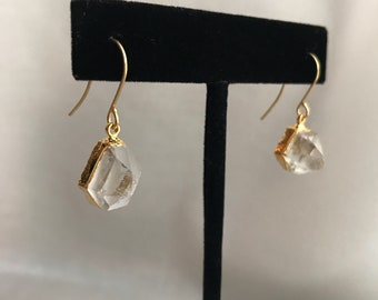 Apophyllite Earrings // Quartz Earrings // Quartz Point Earrings