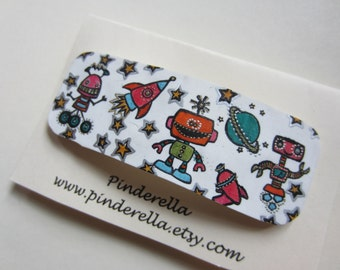 Robots, Aliens, and Space Ships Outer space  Barrette pets Hair Clip