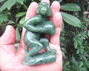 perfect natural jasper  monkey Charms Carving / monkey Sculpture