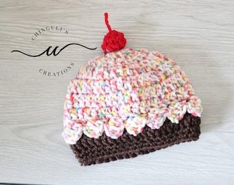 Baby Crochet Cupcake Hat Newborn Cupcake Hat