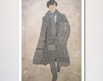 Sherlock Typography Poster, wall art, home decor