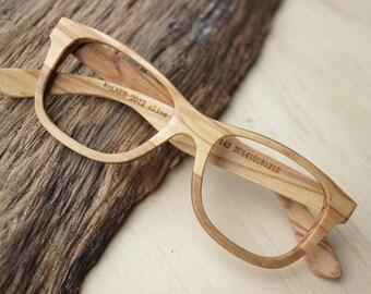 Walker2012 Olive Wood Takemoto Handmade Glasses customized prescription eyeglasses