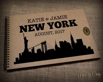 Personalised Travel Memory Book, Photo Album, New York, USA Scrapbook, Emigrating/Leaving Present, Honeymoon Gift Idea, Birthday Gift