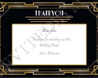 Great Gatsby/Art Deco Thankyou Card