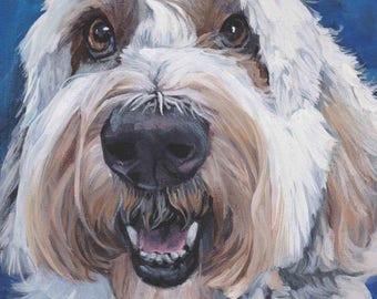 "POLISH Lowland SHEEPDOG dog art PORTRAIT canvas print of LAShepard painting 11x14"""