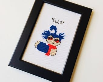 Labyrinth | David Bowie | Worm | Quote | Ello | Cute | Gift | Home | Framed | Cross Stitch |