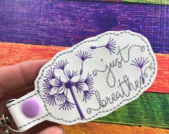 Just Breathe - mindfulness keyfob keychain - best gifts for her - gifts under 10