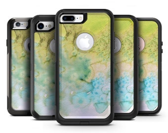 Yellow Green 197 Absorbed Watercolor Texture - OtterBox Case Skin-Kit for the iPhone, Galaxy & More