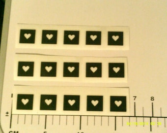30 x nail stencils - 7 to choose from heart, dolphin, mermaid, penguin, star & deer