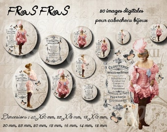 80 images for collage digital cabochons jewelry frous frous