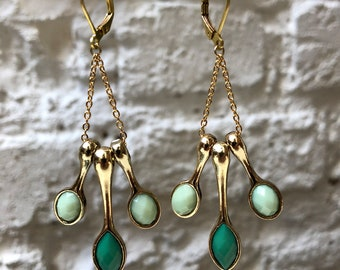 Green Drops Earrings
