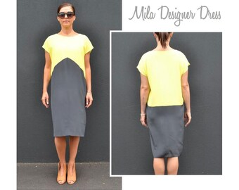 Mila Designer Dress - Sizes 14, 16, 18 - Women's pull on dress PDF Sewing Pattern by Style Arc - Sewing Project - Digital Pattern