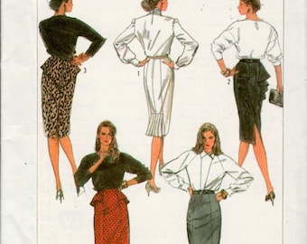 vintage Simplicity 8183 sewing pattern // Misses' Easy To Sew Skirt