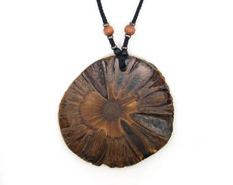 Banksia nut pendant. Jewelry. Exotic hardwoods Australia. Unique necklace. Exotic jewelry necklace. Brown necklace. Handmade by Ecokazen.