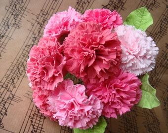 Made to Order Clay Carnation Bouquet (DF0019)