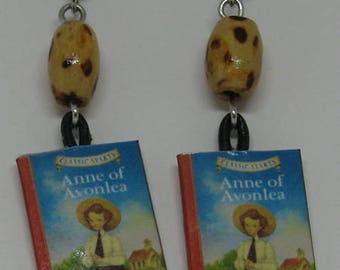 Anne of Avonlea Mini Book Earrings E171