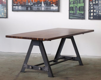 Low Top Pub kitchen Dining A Frame table industrial chic restaurant