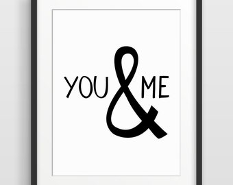 You and Me, 1st Anniversary Gift, Anniversary Gift for Boyfriend, Paper Anniversary, Romantic Gift, Boyfriend Gift, Gift for Girlfriend