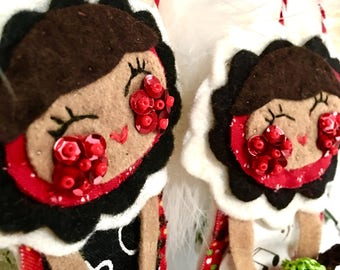 5 Plush Teacher Dolls, Hand Sewn Plush, Teacher End of Year Gift, Teacher Appreciation, 5 Teacher Gifts! Softies, Plush