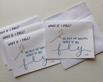 Encouragement Greeting Card - Set of 4 - Blank