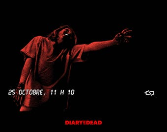 """POSTER """"DIARY of the DEAD"""" by Romero"""