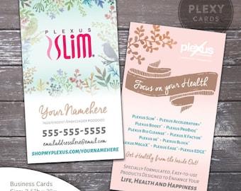 Plexus business card etsy plexus slim floral business card design digital files colourmoves Gallery