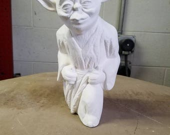 Ceramic Yoda Bisque ware