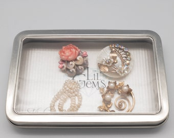 Vintage Magnetic Wine Charms: Seed Pearl and Shells Set of 4