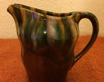 A Lovely Vintage Majolica Water Jug, Made in France