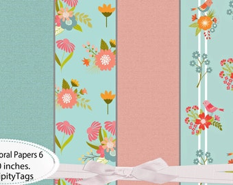 6 Summer Floral Papers